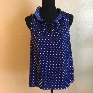 J. Crew polka dot sleeveless blouse sz 6